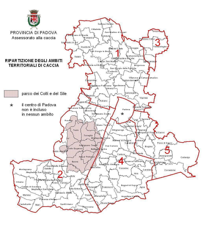 Richiesta ambito territoriale di caccia la nuova - Mobilifici padova e provincia ...