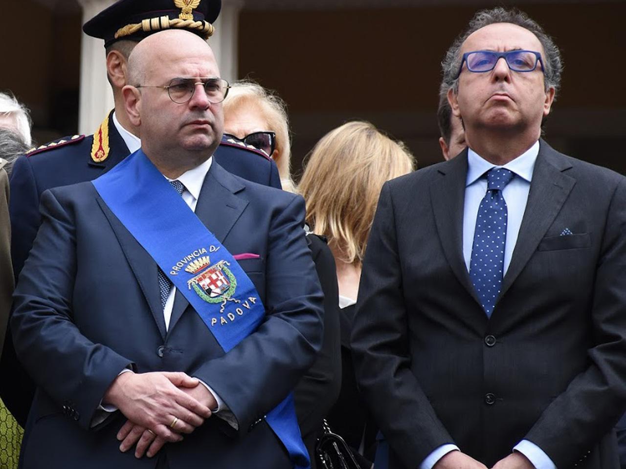 Fabio Bui presidente della Provincia di Padova e Paolo Fassari questore di Padova