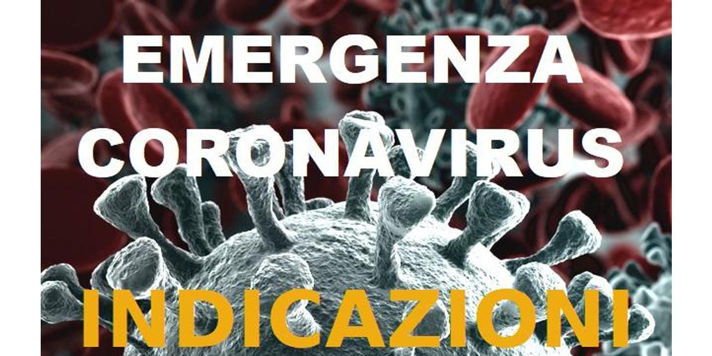 Coronavirus - indicazioni
