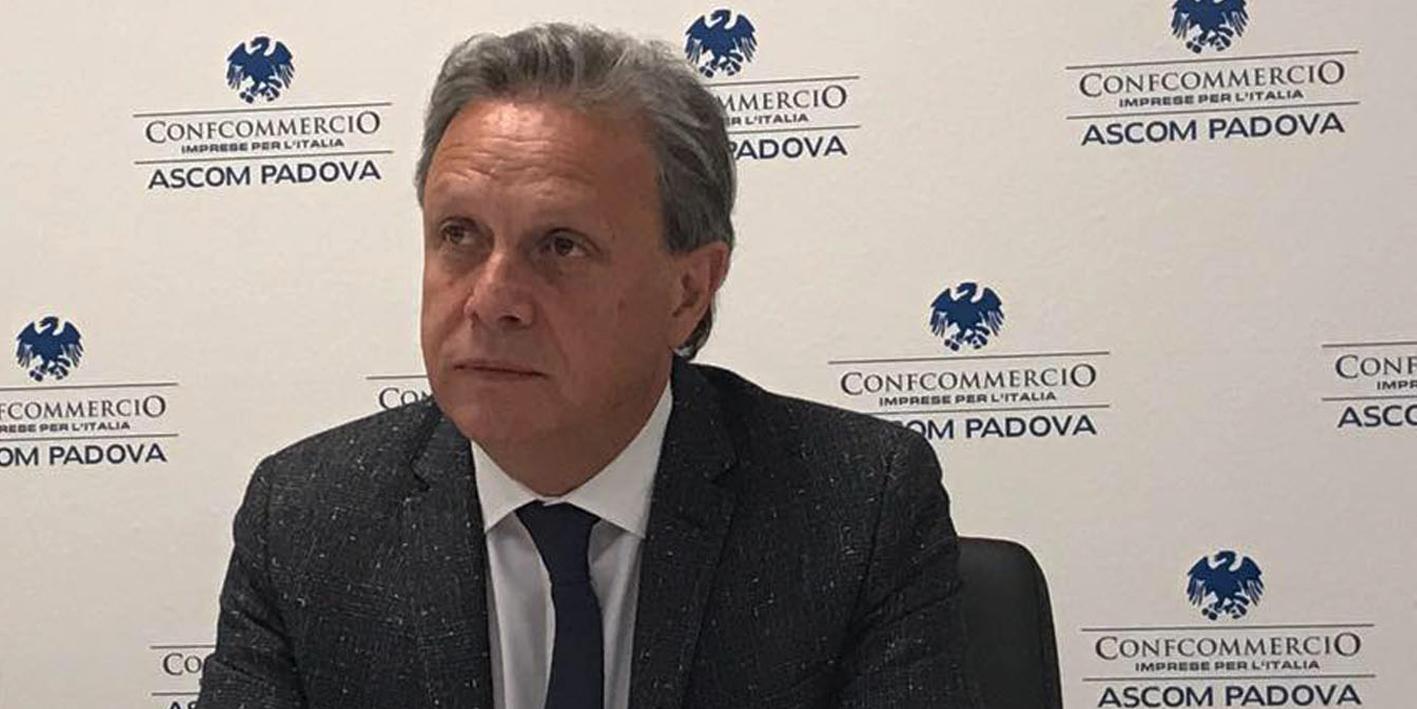 Foto di Patrizio Bertin presidente di Confcommercio Veneto