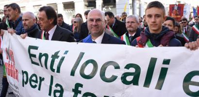 Il presidente Bui alla manifestazione contro le mafie organizzata da Libera