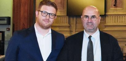 Fabio Bui presidente della Provincia di Padova e Fabio Miotti consigliere delegato all'Agricoltura