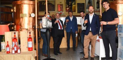 Il presidente Fabio Bui in visita allo stabilimento Luxardo