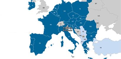 mappa dell'Europa