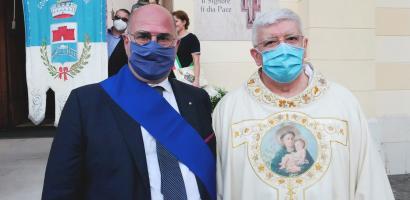 Fabio Bui e l'arcivescovo Marco Tasca