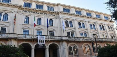 La facciata della sede della Provincia di Padova: Palazzo Santo Stefano