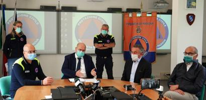 Protezione Civile di Padova tavolo relatori