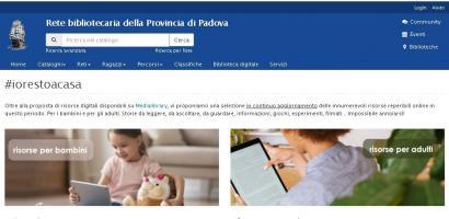 img pagina web risorse online rete bibliotecaria della Provincia di Padova