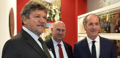 Il presidente Bui in visita alle aziende padovane presenti al VINITALY