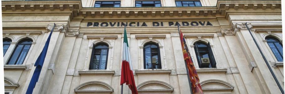 Facciata di Palazzo Santo Stefano sede istituzionale della Provincia di Padova